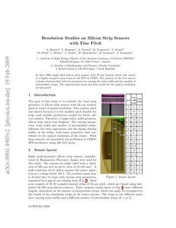 Resolution Studies on Silicon Strip Sensors with Fine Pitch - HEPHY