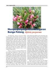 Memperpanjang Masa Kesegaran Bunga Potong ... - Hortikultura