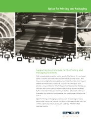 Epicor for Printing and Packaging - Zift Solutions