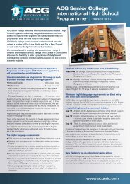 ACG Senior College Flyer - The Academic Colleges Group