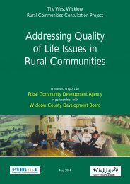 Addressing Quality of Life Issues in Rural Communities - Wicklow.ie