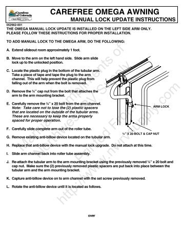 One Touch Patio Awning Tractioner Instructions Northwest