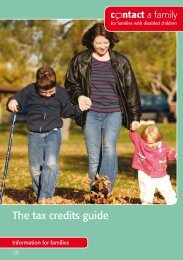 The tax credits guide - Contact a Family