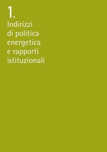 Indirizzi di politica energetica e rapporti istituzionali - Autorità per l ...