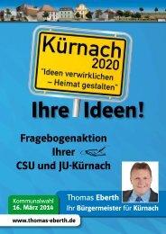 Umfragebogen zur Kommunalwahl 2014 - CSU