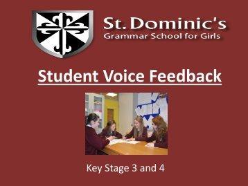 St. Dominic's Grammar - Student Voice, Feedback