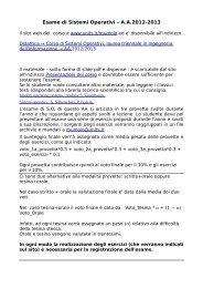 Esame di Sistemi Operativi – A.A.2012-2013