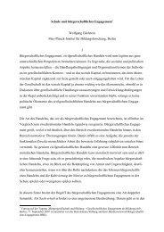 Schule und bürgerschaftliches Engagement* Wolfgang Edelstein ...
