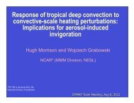 Response of tropical deep convection to local heating ... - cmmap