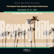 Conference Program - Pension Real Estate Association