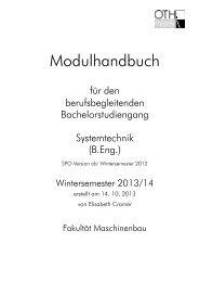 Modulhandbuch - Ostbayerische Technische Hochschule Regensburg