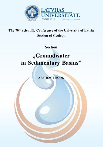 "Section ""Groundwater in Sedimentary Basins"" - Latvijas Universitāte"