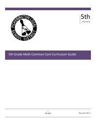 5th Grade Math Curriculum
