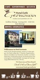 aktuelle Cafékarte - Hotel Germania