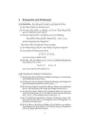 Eine kurze Zusammenstellung der wichtigsten Definitionen (pdf)