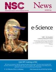 NSC News, issue 2010:4 - Linköping University