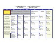 Care-A-Van Schedule August 2013 Public Calendar 804-545-1920 ...