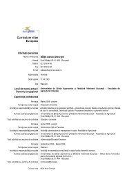 Basa Adrian Gheorghe CV_2012.pdf - Facultatea de Agricultură