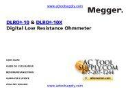 DLRO®-10 & DLRO®-10X Digital Low ... - Actoolsupply.com