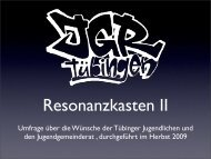 Umfrage über die Wünsche der Tübinger Jugendlichen und den ...