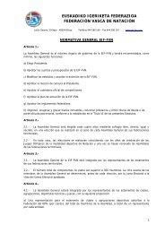 Normativa General - Federación Vasca de Natación.