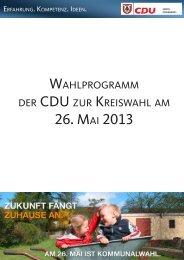 Wahlprogramm 2013.pdf - CDU KV Pinneberg
