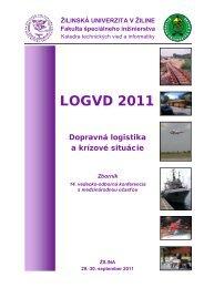 LogVD-2011 - Zborník - Fakulta špeciálneho inžinierstva - Utc.sk