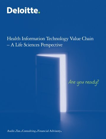 Health Information Technology Value Chain – A Life ... - Deloitte