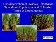 73 Characterization of Invasive Potential of Naturalized Populations ...