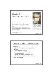 Chapter 5 Link Layer and LAN s Chapter 5: The ... - IT is your future