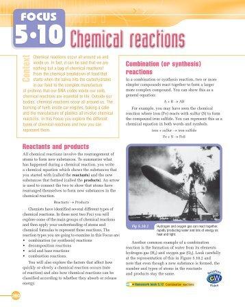Focus 5.10 Reactions