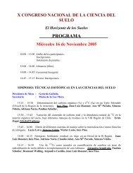 PROGRAMA - X Congreso Nacional de Ciencias del Suelo