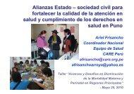 sociedad civil para fortalecer la calidad de la atención en salud y ...