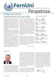 Nr. 19 / Frühjahr 2007 (pdf, 1 MB) - FernUniversität in Hagen