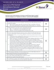 Selection of Permanent Hemodialysis Vascular ... - BC Renal Agency