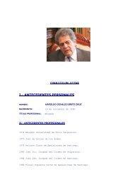 CURRICULUM VITAE I.- ANTECEDENTES PERSONALES