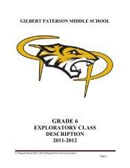 Gr 6 RgistrationBooklet with Option Descriptions - Gilbert Paterson ...