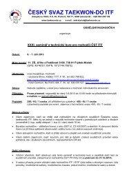 PDF - Český svaz Taekwon-Do ITF