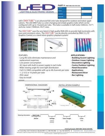 tube series - Lighting and Electronic Design, Inc.