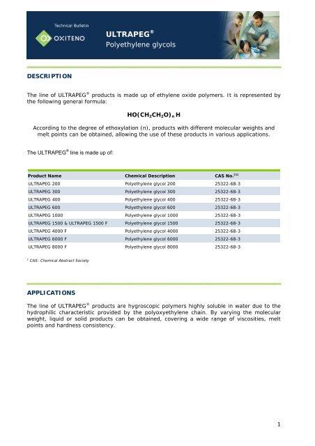 ULTRAPEG® - Oxiteno
