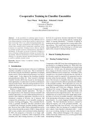 Co-operative Training in Classifier Ensembles - Information Fusion ...
