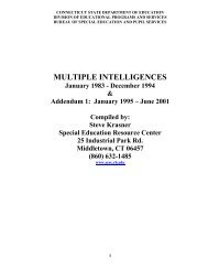 MULTIPLE INTELLIGENCES - The State Education Resource Center