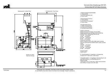 Technische Daten Dampferzeuger VEIT 2373 Technical Data VEIT ...