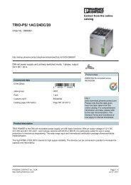 2866381 Phoenix Contact Data Sheet - MRO Stop