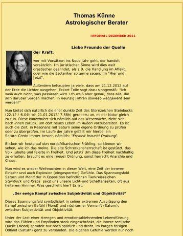Infomail Dezember 2011 von www.quelle-der-kraft.de/ Thomas Künne