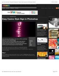 Easy Casino Style Sign in Photoshop | Abduzeedo | Graphic Design ...