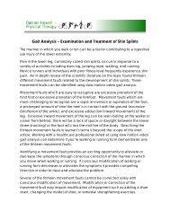 Gait Analysis – Examination and Treatment of Shin Splints