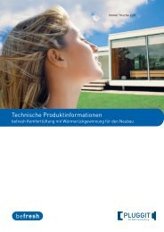 Technische Produktinformationen - Pluggit