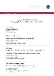 Merkblatt für teilnehmende Schulen - Herbert-Quandt-Stiftung