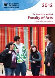 Faculty of Arts - The University of Auckland